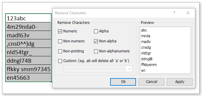 doc remove characters