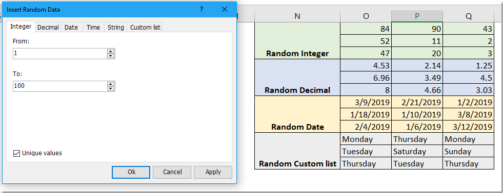 How to quickly generate random password in Excel?