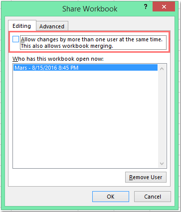 How to cancel a shared workbook?