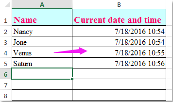 doc auto date when enter data 1