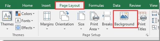 Excel bild als hintergrund einfugen