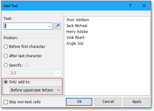 doc kutools add text 2