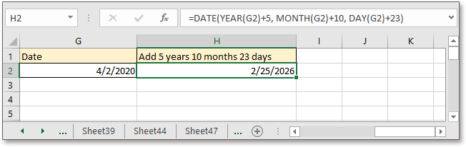 doc add subtract specific year month day 5