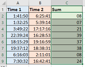 doc add times to get hours 6