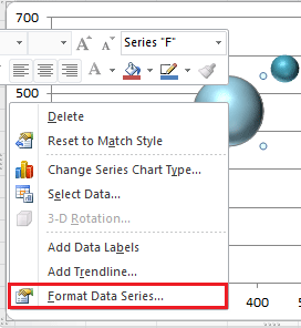 How to adjust bubble size in bubble chart in Excel?
