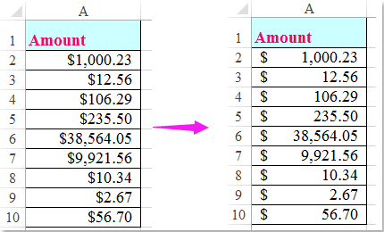 How to align dollar sign left in Excel?