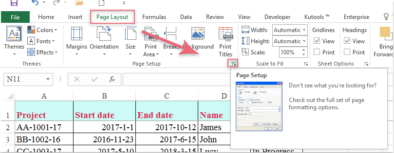 How to print frozen panes on every page in Excel worksheet?