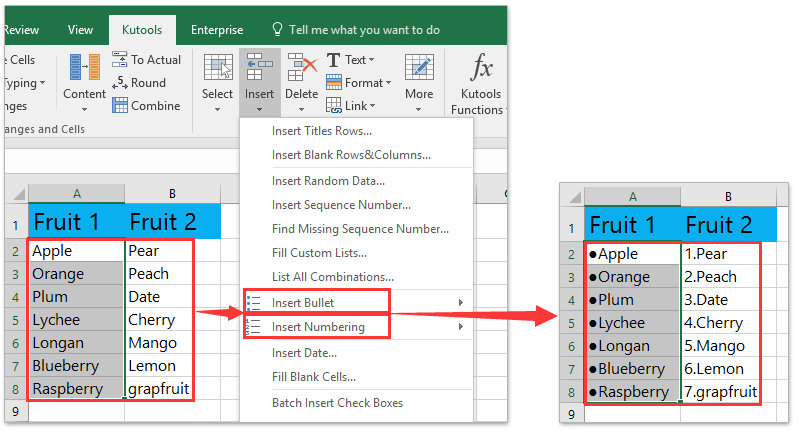How to make a bullet point in excel