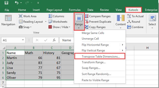 doc array table to list 14