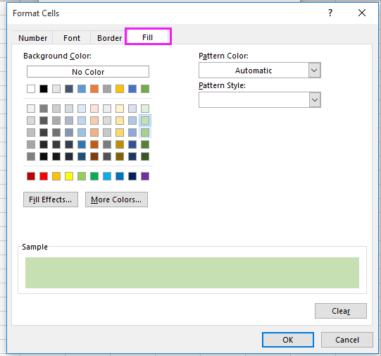 doc auto color alternating row 10