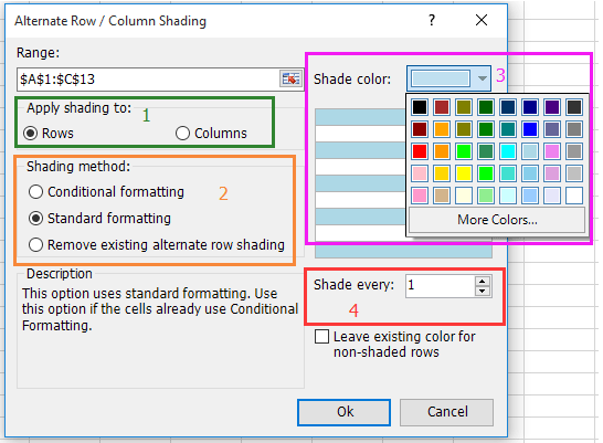 doc auto color alternating row 14
