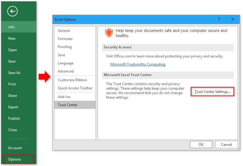 doc bestanden openen bij het starten van Excel 1