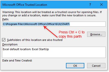 doc bestanden openen bij het starten van Excel 3