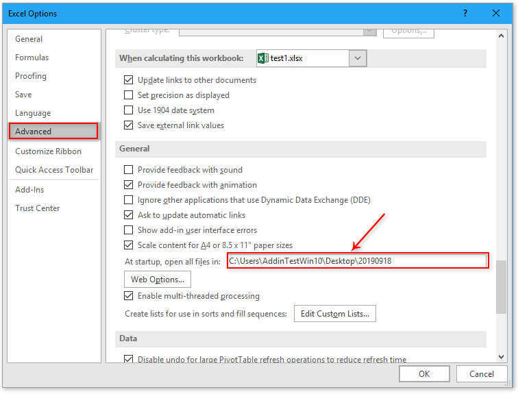 doc open files when start excel 9
