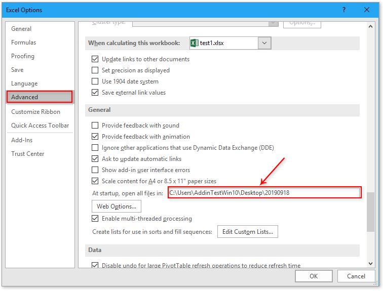 doc bestanden openen bij het starten van Excel 9