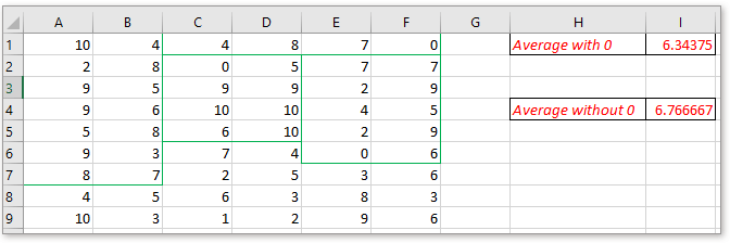 doc average data in noncontiguous ranges 1