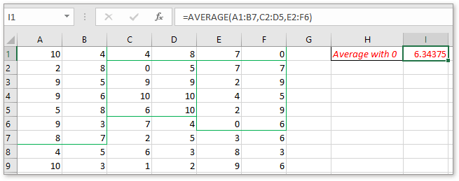 doc average data in noncontiguous ranges 4