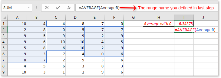 doc average data in noncontiguous ranges 6