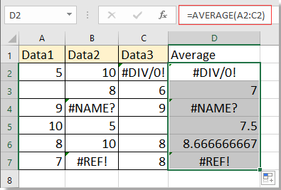 doc average with missing value 1