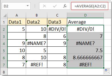 purata doc dengan nilai hilang 1