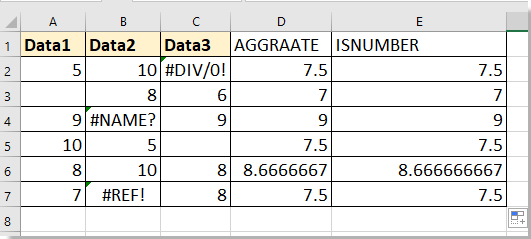 doc average with missing value 4