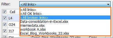 excel break links not working