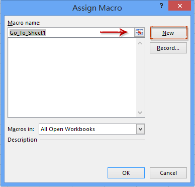 How to create buttons to open/go to certain sheets in Excel?