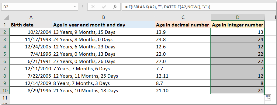 doc calculate birth in year month day 6