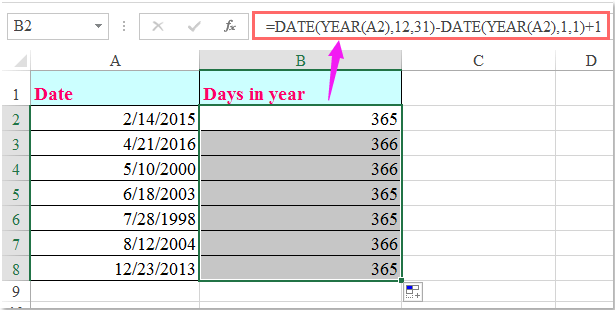 doc calculate days in month 2
