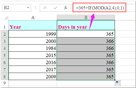 doc calculate days in month 3