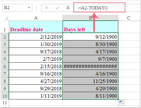 doc calculate days till deadline 1