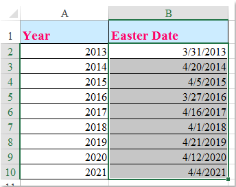 doc calculate easter date 1
