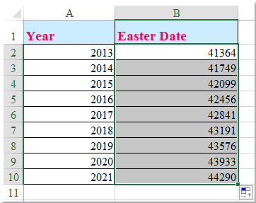 doc calculate easter date 3