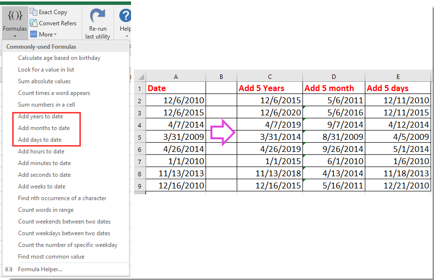 How to show first or last day of previous month based on given date