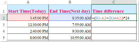 doc calculate time past overnight 2