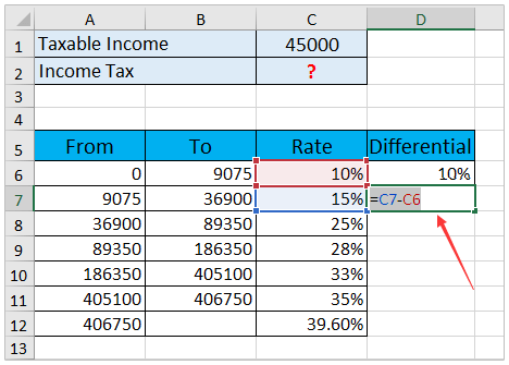 How To Calculate Income Tax In Excel