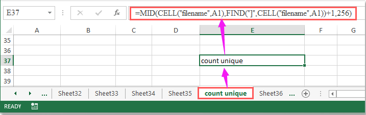 doc cell value equal to tab name 1