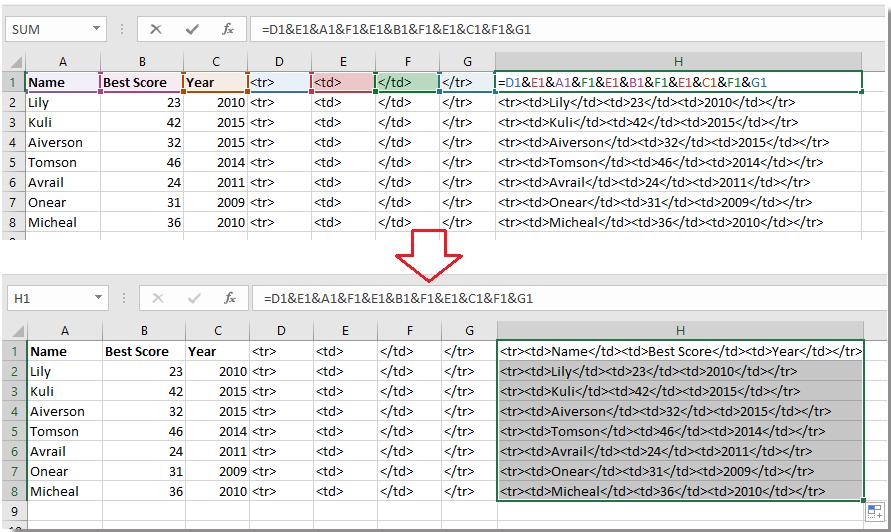 doc單元格到html表格7