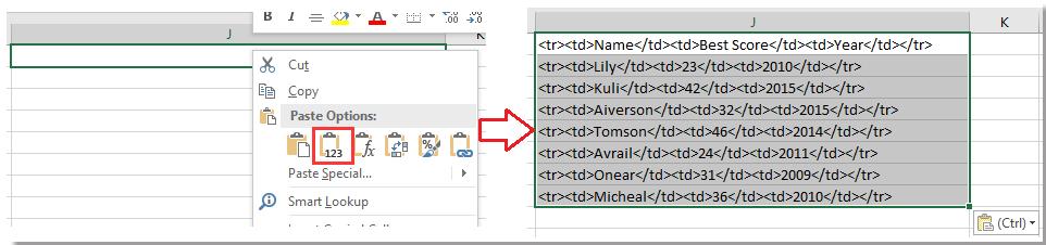 doc單元格到html表格8
