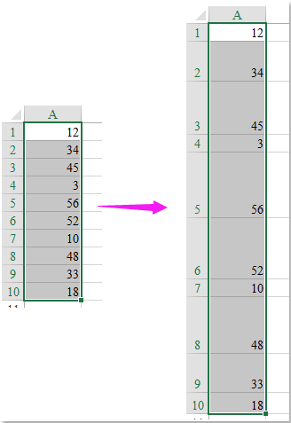 doc change row height by value 1