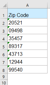 How to change 9-digit zip codes to 5 digits in Excel?