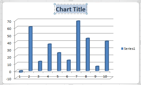 How To Add A Chart Title In Excel