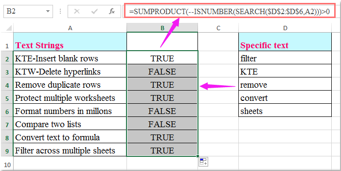 doc check if multiple values 2