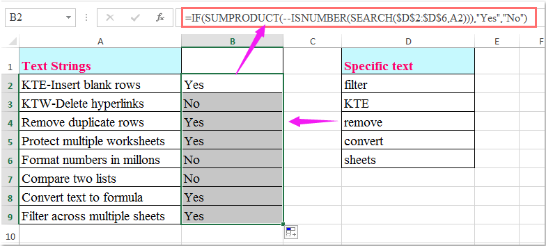 doc check if multiple values 3