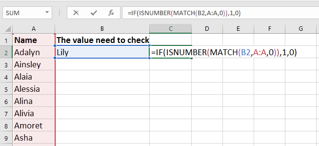 doc check if value is in list 4