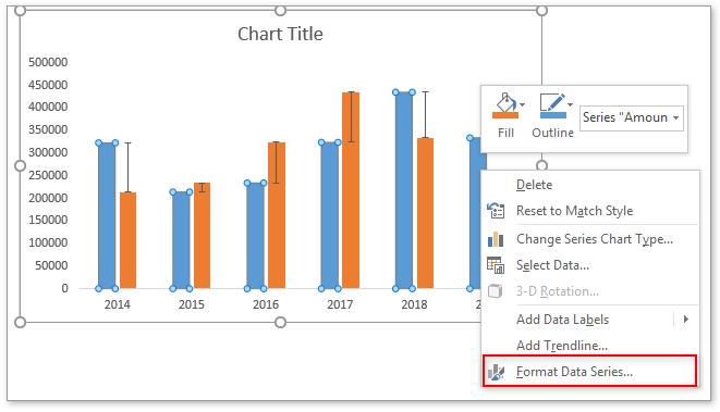 doc column chart with percentage change 17