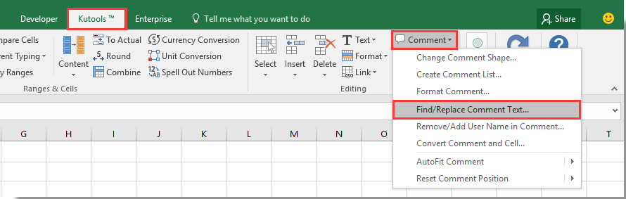 excel for mac find and replace