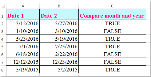 doc compare month year only 1