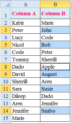 doc compare y liste 13 único