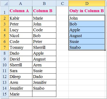 doc compare y liste 14 único